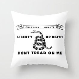 Culpeper Minutemen Flag - Authentic High Quality Throw Pillow