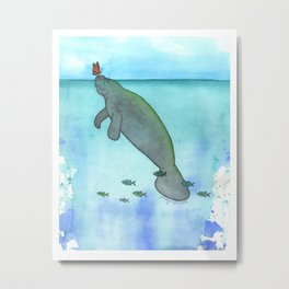 Sunny Weather Friends Metal Print