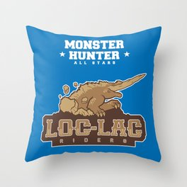 Monster Hunter All Stars - Loc-Lac Riders Throw Pillow