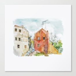 Lisbon Aquarelle No.12 Canvas Print