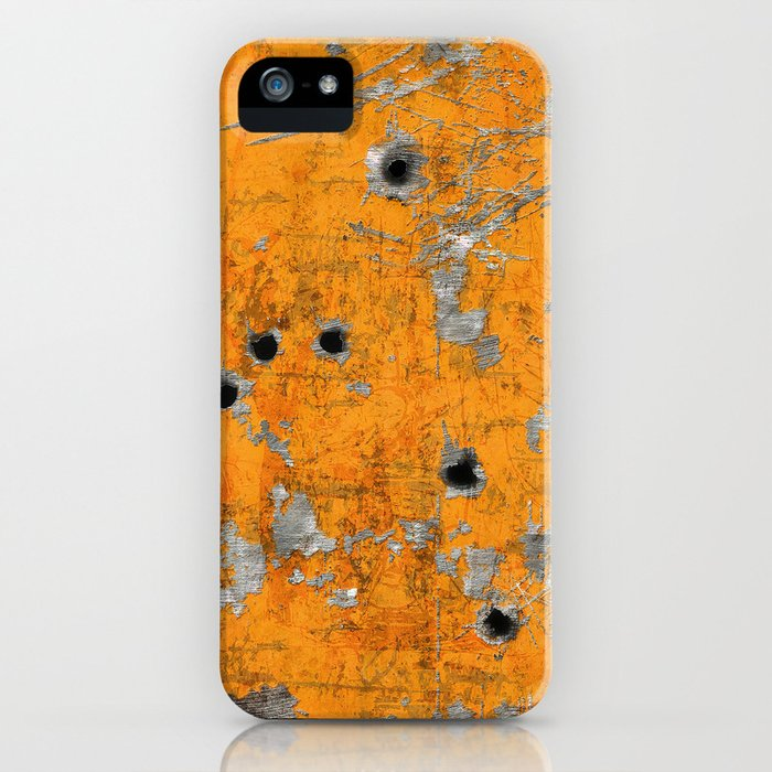 Bullet Riddled Metal iPhone Case