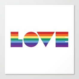 Rainbow love Canvas Print