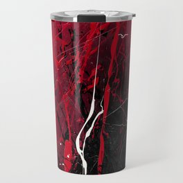 Rising - abstract painting by Rasko Travel Mug