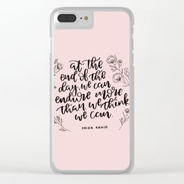 INSPIRATION FROM THE LADY WITH THE FAB EYEBROWS Clear iPhone Case