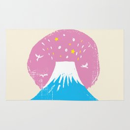 "Symbol of happiness ""Mount Fuji"" Japan Rug"