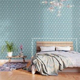 Blue Poppy Bash Wallpaper