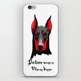 Dobermann iPhone Skin