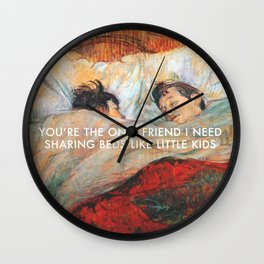 Sharing Beds Wall Clock