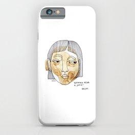 Wanna hear a joke? Decaf. iPhone Case