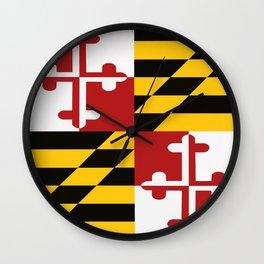 Maryland Colours Wall Clock