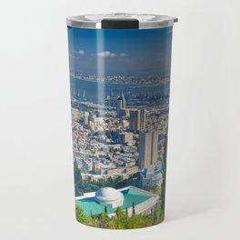Haifa harbour Travel Mug