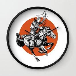 Cowpoke Wall Clock