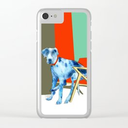 Great Dane in Chair #1 Clear iPhone Case