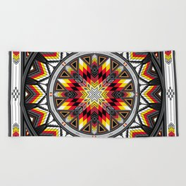 Sacred Places Red Beach Towel