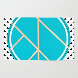 Leaf - small triangle graphic Rug