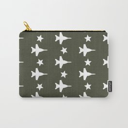 F-18 Hornet Fighter Jet Pattern Carry-All Pouch
