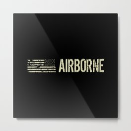 Black Flag: Airborne Metal Print
