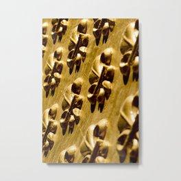 Parisian Gold Fluer De Lis Embossed Design Metal Print