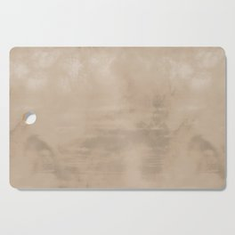 Burst of Color Pantone Hazelnut Abstract Watercolor Blend Cutting Board