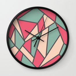 Geometric Colour Pattern V6 Wall Clock