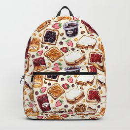 Peanut Butter and Jelly Watercolor Backpack
