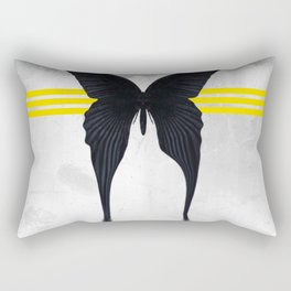 Blacked Out Butterfly Rectangular Pillow
