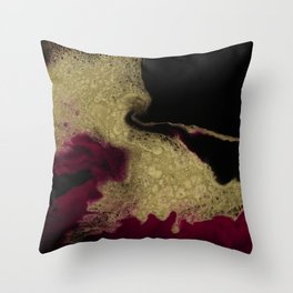 Black Honey - resin abstract painting Throw Pillow
