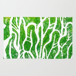 Summer Herbs, abstract floral Rug
