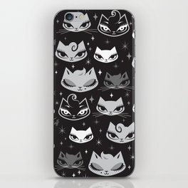 Rockabilly Cats with Pompadours iPhone Skin