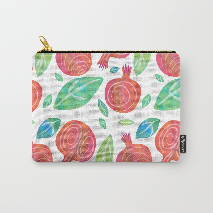 Pomegranates on white Carry-All Pouch