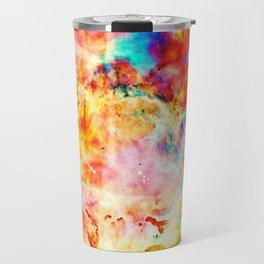 Colorful Abstract Nebula Travel Mug