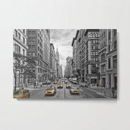 5th Avenue NYC Traffic Metal Print