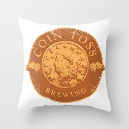 Coin Toss Brewing Throw Pillow