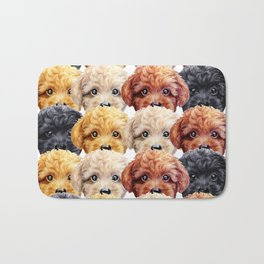 Toy poodle everywhere with friends Bath Mat
