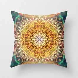Cygnus Cosmic Mandala Throw Pillow