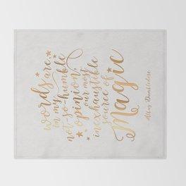 Dumbledore's Magic Words Throw Blanket