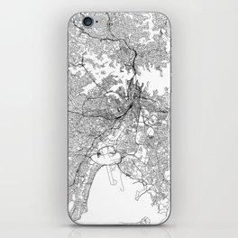 Sydney White Map iPhone Skin