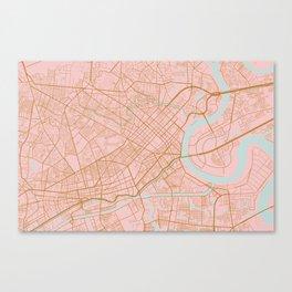 Ho Chi Minh map, Vietnam Canvas Print