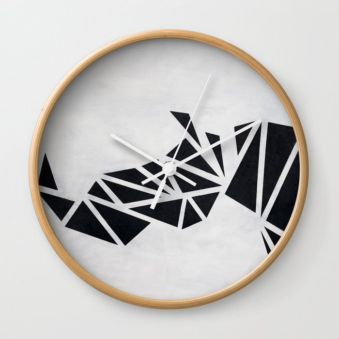 Geo Rhino (oil painting) Wall Clock