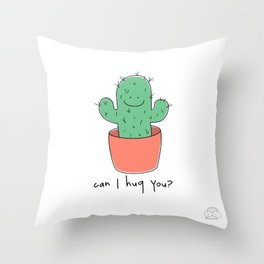 Can I hug you? Throw Pillow