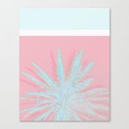 Aqua Palm Love Canvas Print