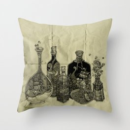 sea witch's cabinet Throw Pillow
