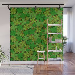 Lucky Clovers Wall Mural