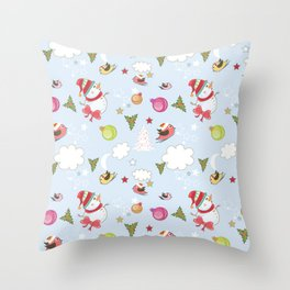 Christmas Elements Collage 1 Throw Pillow