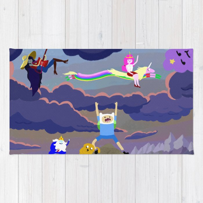 AT character spread Rug