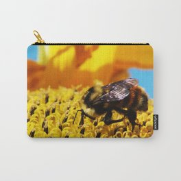 Bee on a Sunflower Carry-All Pouch