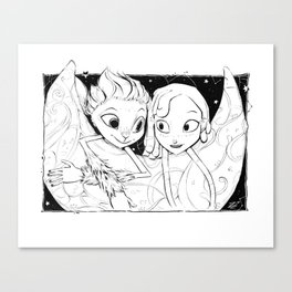 Mune and Glim (Mune: Guardian of the Moon) Canvas Print