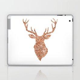 Sparkling reindeer blush gold Laptop & iPad Skin