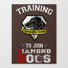 Training to join Diamond Dogs Canvas Print