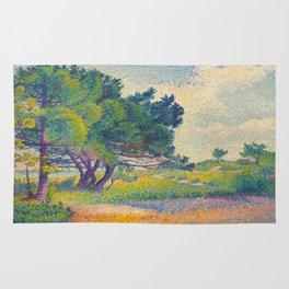 Small House at Saint Clair 1894 Henri-Edmond Cross Neo-Impressionism Pointillism Oil Painting Rug